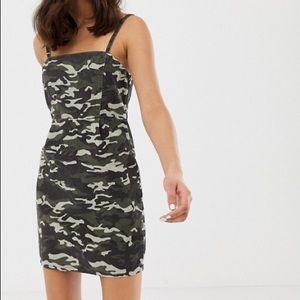 NWT ASOS Camo Print Corduroy Dress Size 6
